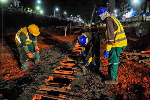 14h de obras sem parar no Túnel de Taguatinga