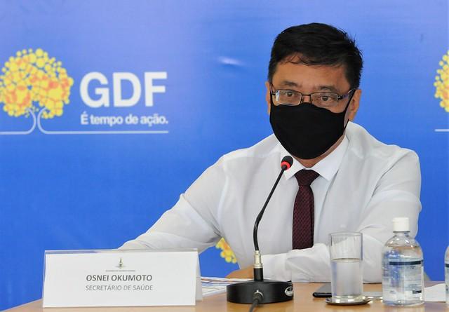Coletiva sobre as ações do GDF no combate à covid-19